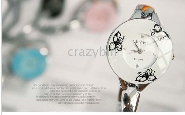 wholesale fashion watch/brand watch- - 10 pcs EYKI Korea Mexican Lotus watches W8063L Tang Yue Se