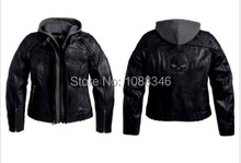 Women 3 in 1 knight locomotive real leather jacket 98152-09VW(China (Mainland))