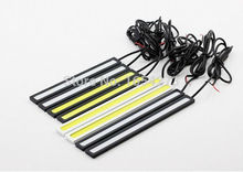 Ultra Bright 18W 14cm/ Silver Shell Daytime Running light 100% Waterproof COB Day time Lights LED Car DRL Driving lamp 2pcs/lots