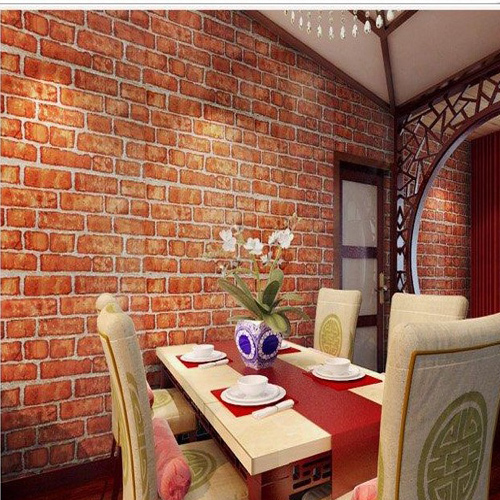 Ziegel Tapete Wohnzimmer : Vintage Living Room Bricks Wall