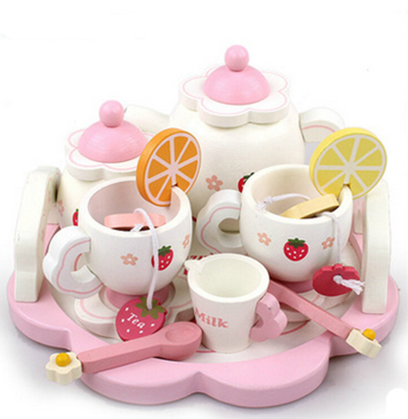 strawberry wooden tea set child educational toys<br><br>Aliexpress