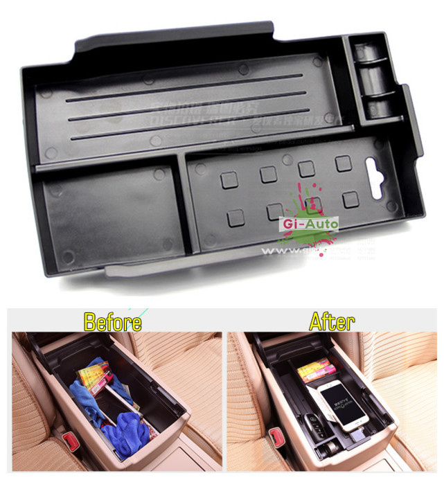 Gi-Auto Design for Toyota 2015 new Camry ABS centre center hand holder slot box storage 1p free ship(China (Mainland))