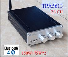 Buy 2016 New Breeze audio BA10C TPA5613 Hifi 2.1 Bluetooth 4.0 75W*2+150W Subwoofer Digital Audio Power Amplifier Aluminum Amplifier for $38.89 in AliExpress store