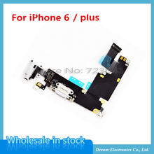 10pcs/lot OEM for iPhone 6 6plus Dock Connector Usb Charging Port Flex Cable Ribbon with Headphone Jack Audio Flex Free shipping(China (Mainland))