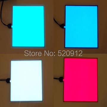 100% Guaranteed A5 size 100pcs El panel electroluminescent BackLight panelBoard Display with DC 12V Inverter(China (Mainland))
