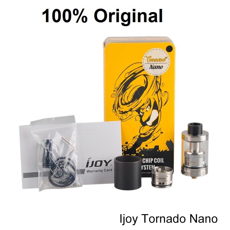 ถูก Ijoy tornadoนาโนrtaถังที่มี18.6มิลลิเมตรสองโพสต์ดาดฟ้า4มิลลิลิตรด้านบนกรอกtornadoนาโนrtaเครื่องฉีดน้ำvaporizerมอระกู่บุหรี่Vape