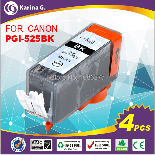 Гаджет  ink tanks 525BK for canon MG5250 full ink 4pcs a lot free shipping  with chip None Офисные и Школьные принадлежности