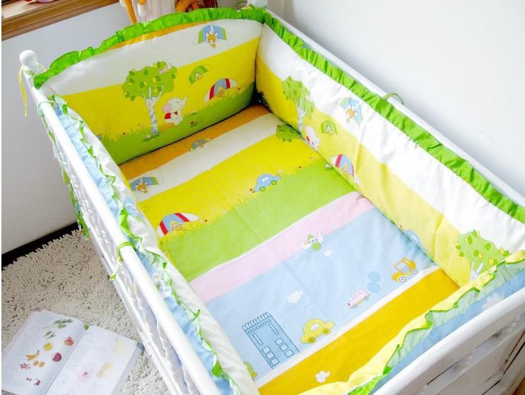 Promotion 4 5PCS 120 60 120 70CM crib bedding bed around kit piece set crib bedding