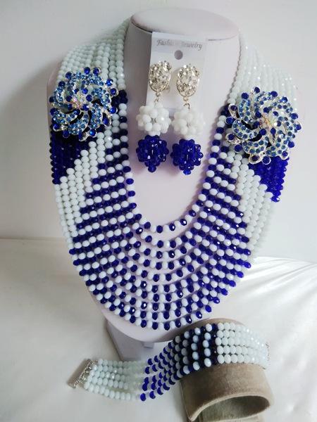 2016 Fashion  New nigerian wedding african beads jewelry set crystal Bridal Jewelry Sets Free shipping   JWN-000464<br><br>Aliexpress