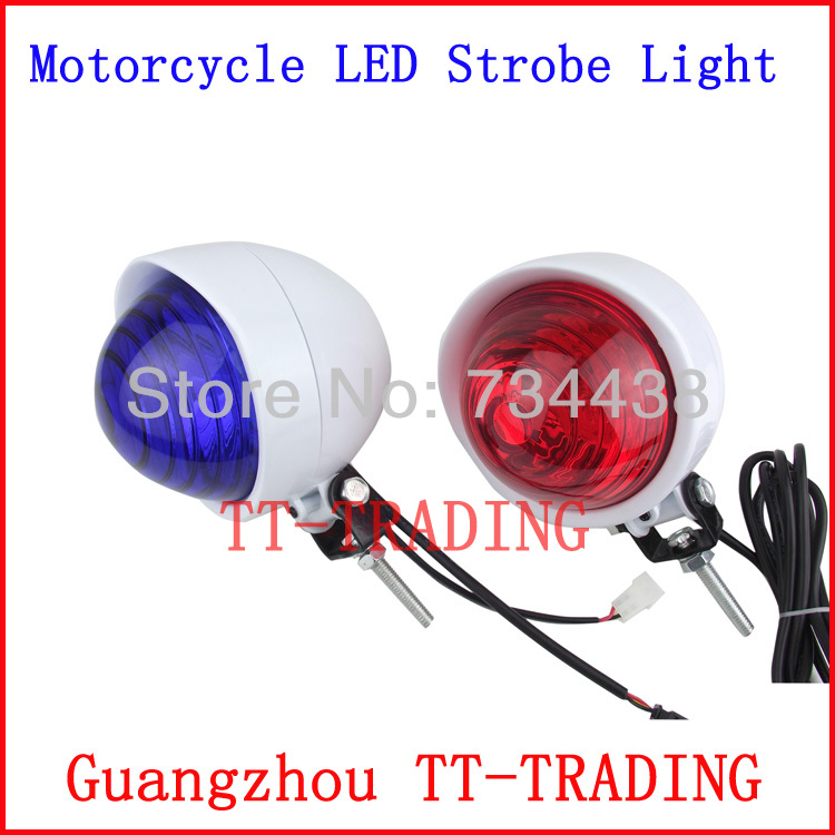 Фотография LED High bright police motorcycle lights police strobe lights motorbike warning lamp emergency flashing light RED BLUE