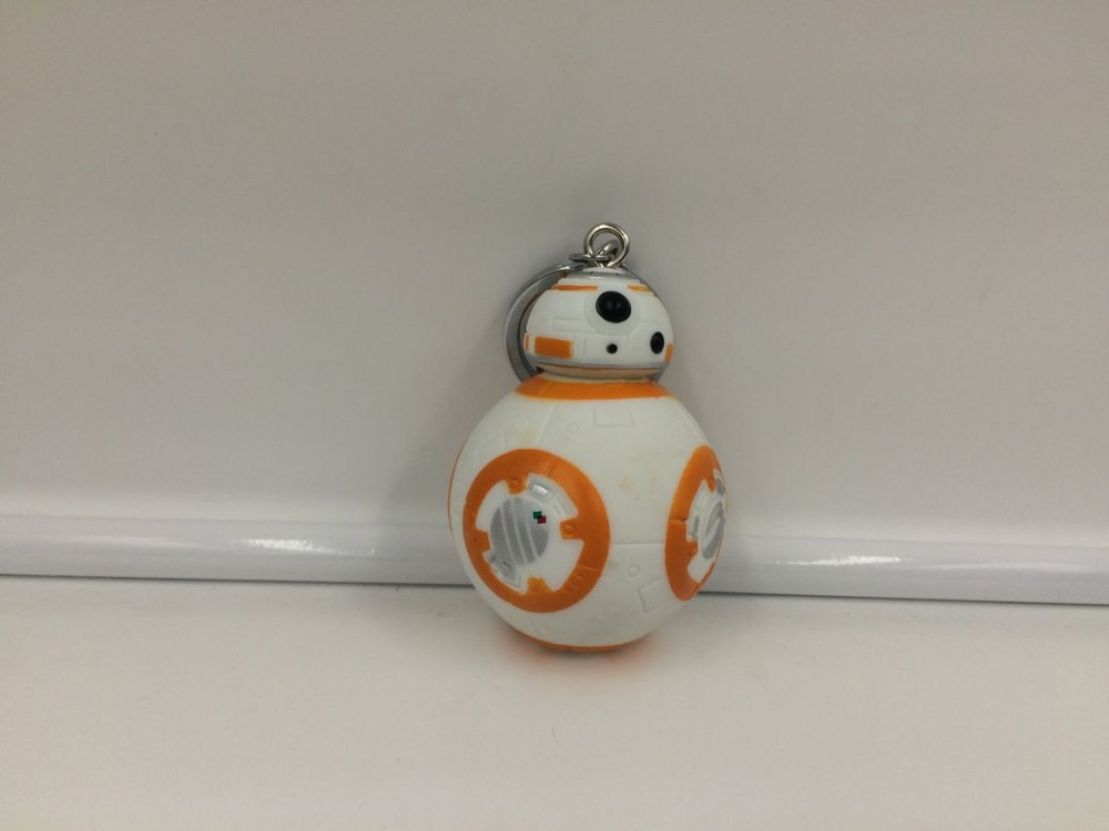 1PCS 2 2inch Star Wars The Force Awakens BB8 BB 8 R2D2 Droid Robot Action Figure