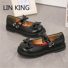 Buy LIN KING New Fashion Women Shoes Buckle Strap Bowtie Cute Sweet Lolita Shoes Round Toe Soft Thick Sole Party Single Shoes for $30.08 in AliExpress store