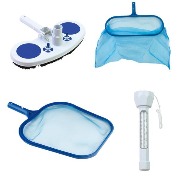 Swimming Pool Vacuum Head Leaf Skimmer Pool Thermometor Set Pool Accessories In Pool