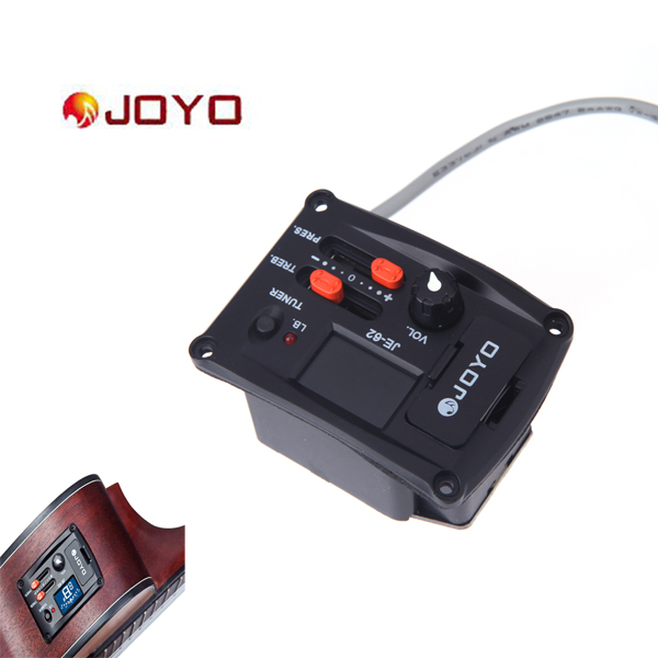 High Quality 2-Band Ukelele EQ Equalizer Ukulele Preamp Piezo Pickup with Tuner Function JOYO JE-62(China (Mainland))