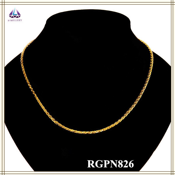 Fast Delivery Latest Model Fashion Fake 18k Gold Jewelry Necklace(China (Mainland))