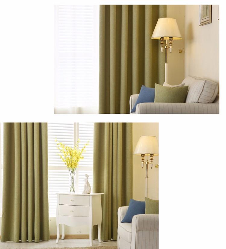 Linen blackout curtains