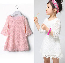 Baby Girls Lovely Lace A-line Dresses Girls Kids Summer Dress