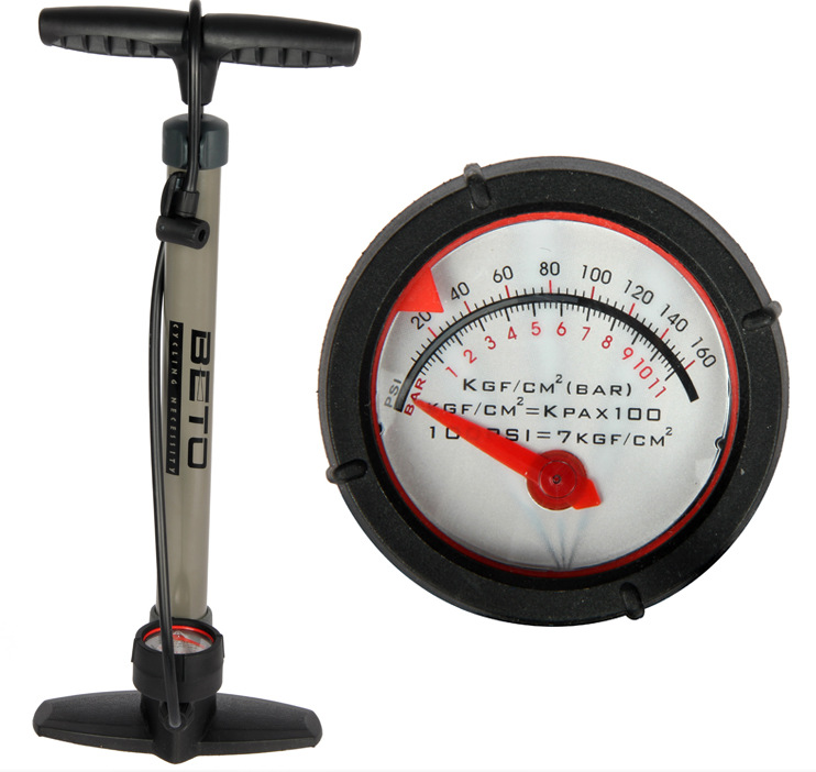 22-inch Bicycle Foot Floor Pump Steel With Pressure Gauge,Mountain Bike Air Pumps Cycling Schrader Presta Valve Bomba Bicicleta(China (Mainland))