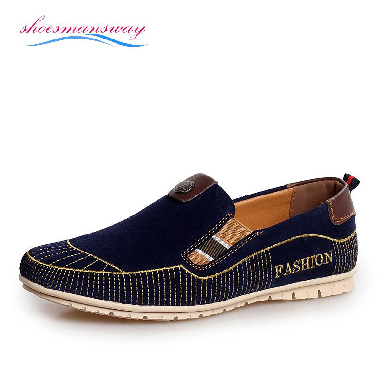New Fashion Comfortable Mens Suede Loafers UK Style Genuine Leather Loafer Shoes Online Sale ...