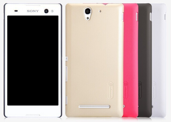 New product NILLKIN Super Frosted Shield Case For Sony Xperia C3 Back Cover Free Shipping(China (Mainland))