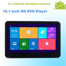 Android 5.1 Headrest 10.1 Inch Monitor HD Car DVD Player HDMI WIFI Capacitive Touchscreen Quad Core (4 Core) - 1 PCS ( Black )(China (Mainland))