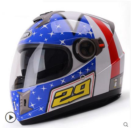Hot Sales Brand YEma Dot Cool Motorcycle Helmet ABS Black Double Lenses Vison Capacete Pattern Full Face Cascos Para Moto(China (Mainland))