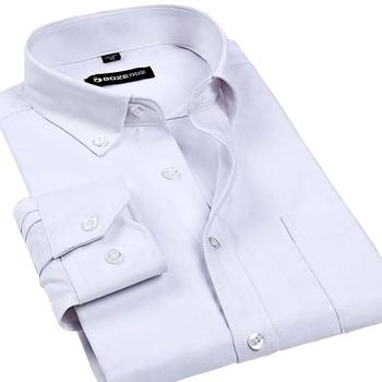 Рубашки человека Wrinkle slim-подходят платье с длинными рукавами - мода бренд мужской ...