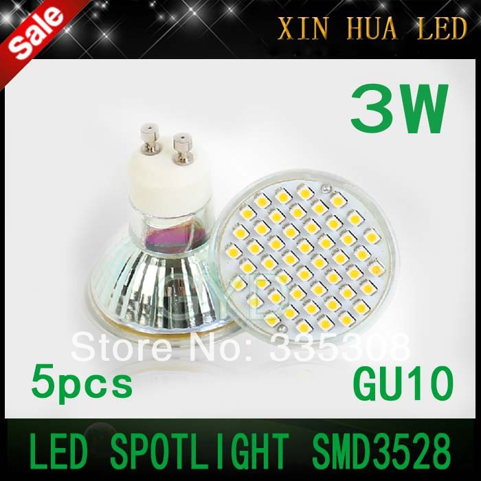 New arrive 250-300LM GU10 3W gu 10 SMD3528 led spotlights LED spot light Lamp Bulb 220V - Xin Hua Electrical Store store