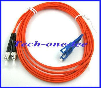 wholesale SC to ST Fiber Patch Cable Cord Jumper Duplex MM 62.5/125 3M Free shipping
