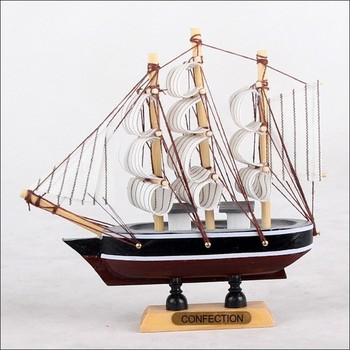 14F 14cm Handcraft Sailing Boat wooden Model Ship home decoration  Free shipping