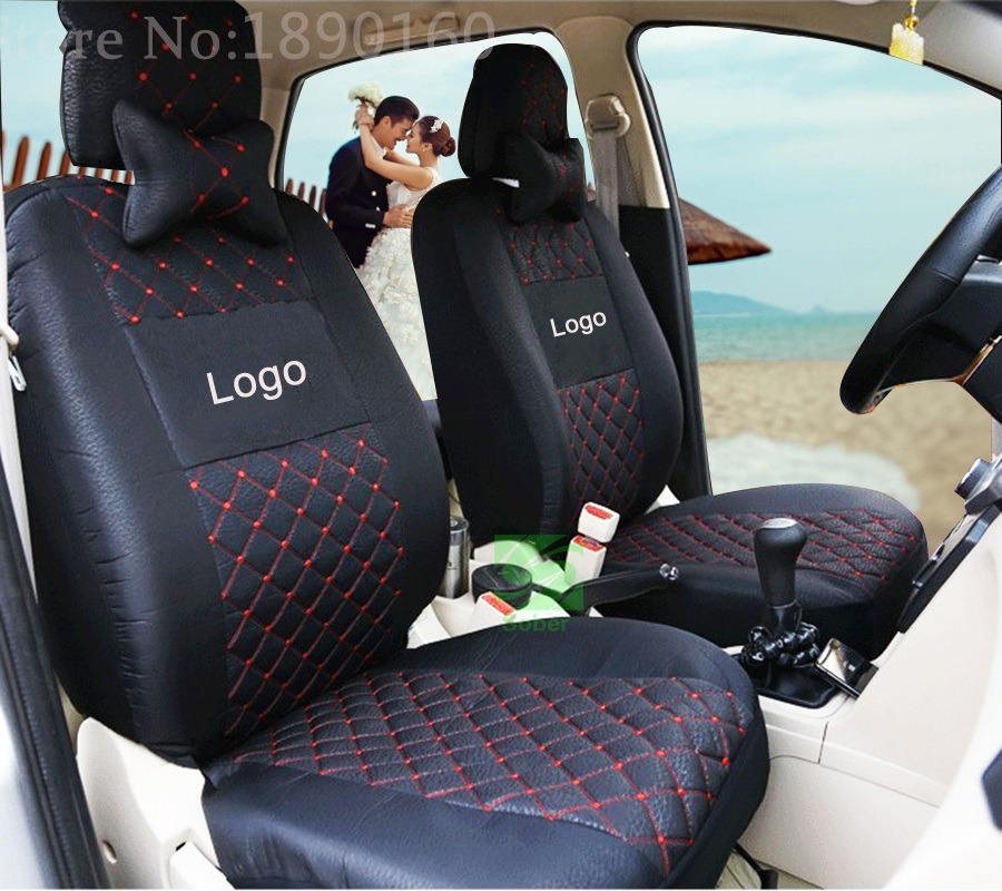 ventilate silk grey embroidery logo universal car seat covers for dacia sandero duster logan car. Black Bedroom Furniture Sets. Home Design Ideas
