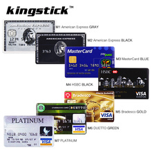 Bank Card USB Memory stick HSBC MasterCard Credit cards USB Flash Drive 64gb Pendrive 4GB 8GB 16GB 32GB Pen drive real capacity(China (Mainland))
