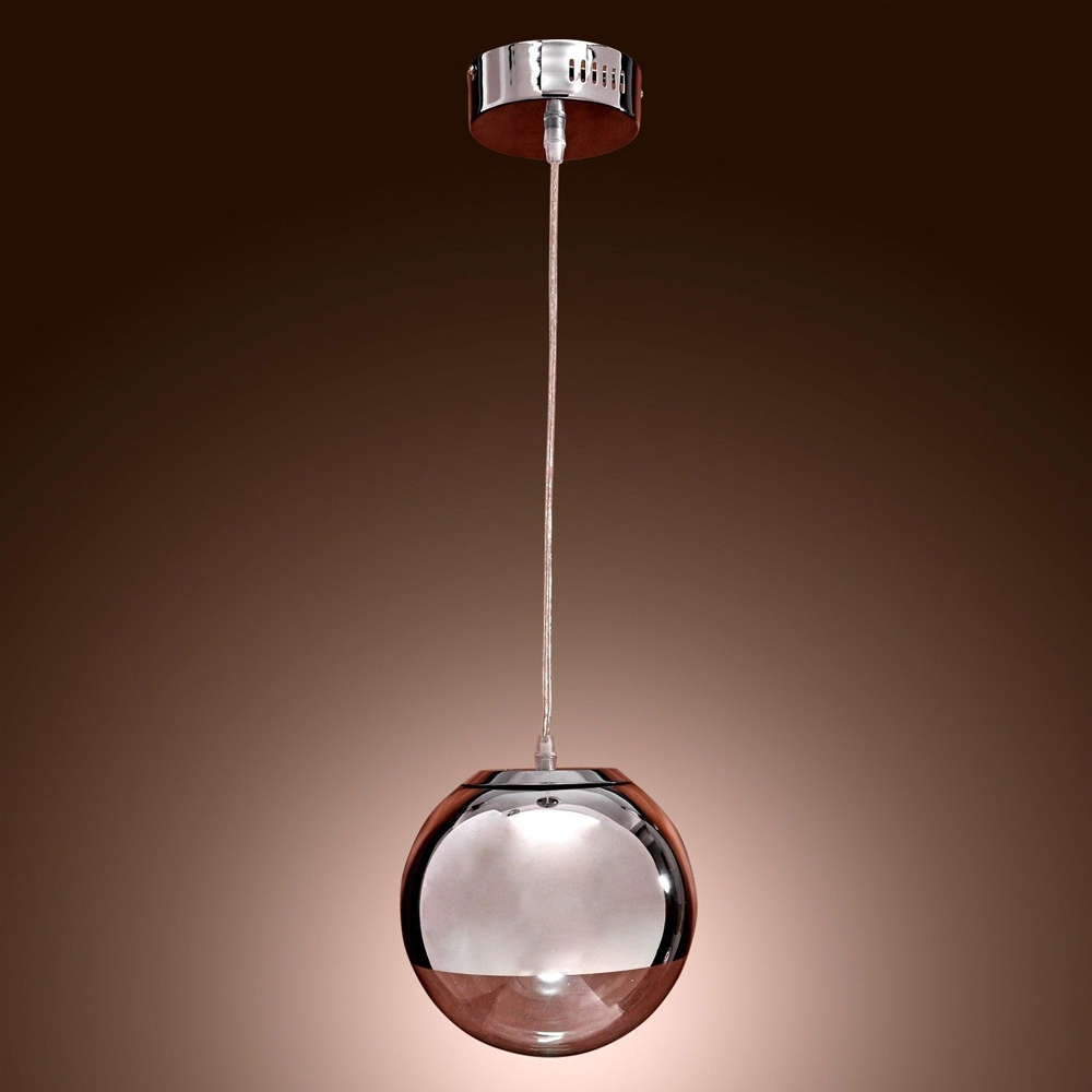 lamp globe chrome lustre ceiling lamp home bedroom lighting fixture. Black Bedroom Furniture Sets. Home Design Ideas