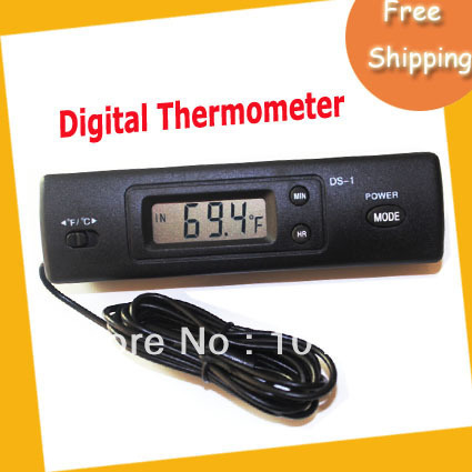 EMS Free shipping Digital Thermometer ,car themometer with two probes ,50pcs/lot