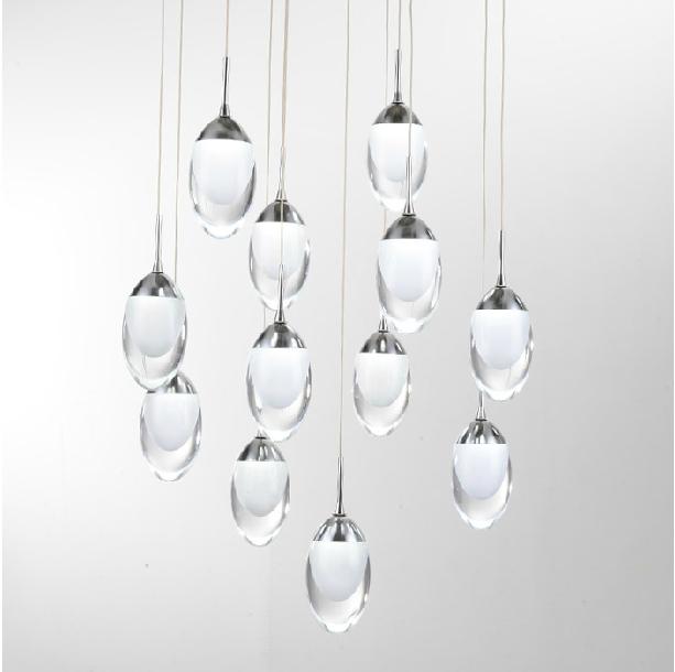 36 lights Modern brief hybrid-type stair pendant light fashion personality spiral pendant hall led light(China (Mainland))