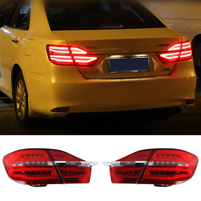 Newest Car styling LED Rear Lights DRL Tail light Rolling Turning Signal For Toyota Camry 2014+ 2015 2016 Super Bright wholesale<br><br>Aliexpress