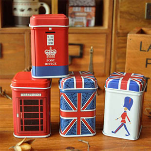 Free ship!24pc!London style storganizer boxes,tin box,small box,storage case,household goods,storage container(China (Mainland))