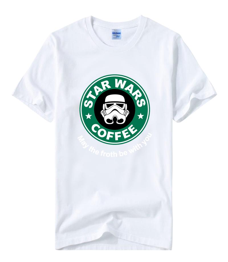 New 2016 Casual Men's T-shirts Custom Design Unique Star Wars TShirt Printed COFFEE Cotton Short Sleeve Tops Tee Summer O-Neck  HTB1875ALVXXXXc9XpXXq6xXFXXXk