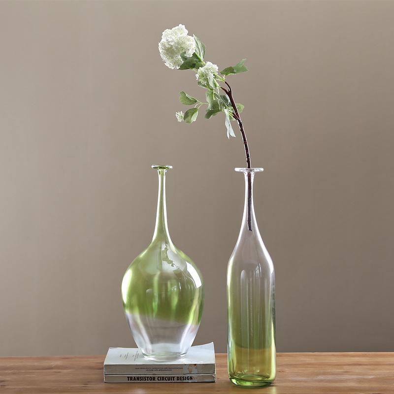 American home accessoires transparante glazen vaas moderne woonkamer idee n kleine mond vaas - Moderne decoratie ideeen ...