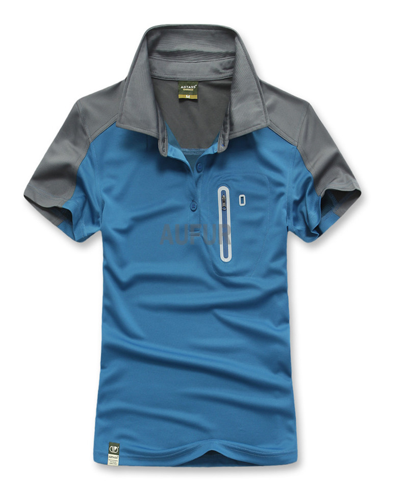 2016 Spring Summer Man Tops & Tees Breathable and Quick Dry Polo Shirts Outdoor Shirts Wicking Sports Wear AU70017(China (Mainland))