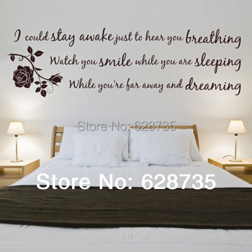 bedrooms with lyrics on the walls images