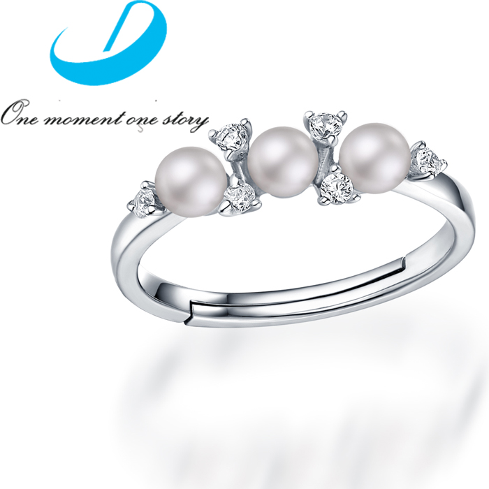 2016 Mother's Day Gift S925 Sterling Silver Pear Crystal Ring Floating charms Wedding Ring For Women(China (Mainland))