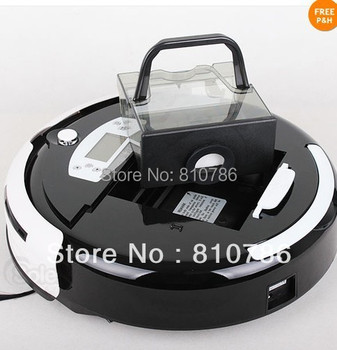 For Russian Buyer/Auto Vacuum Cleaner ,The Biggest  Dust Bin 0.7L + Auto Recharged +Virtual Wall+Moping+UV lights