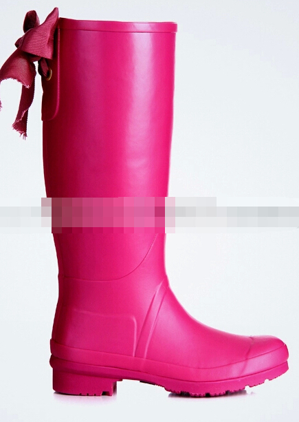 Pink Rain Boots With Bow - Boot Hto