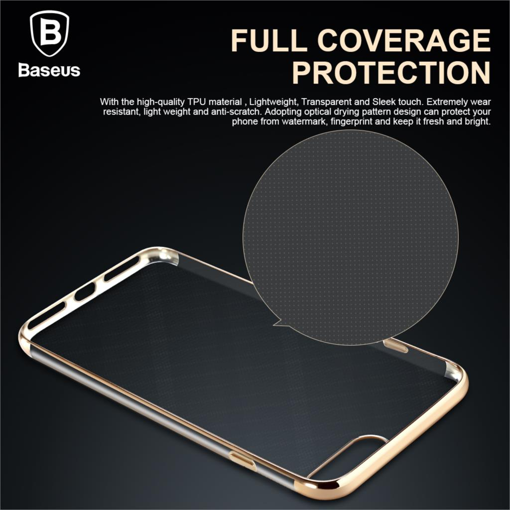 Baseus Case For iPhone 7 Cover For iPhone 7 Plus Case Anti-scratch Electroplating TPU Protective Phone Bag Shell Free Shipping
