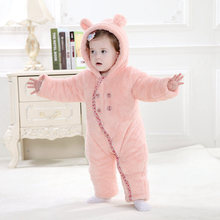 Baby Rompers Baby Clothes Cotton Flannel Baby Clothing  Cartoon Animal Rabbit  Rompers Baby Boys Girls Jumpsuit  Winter clothes(China (Mainland))