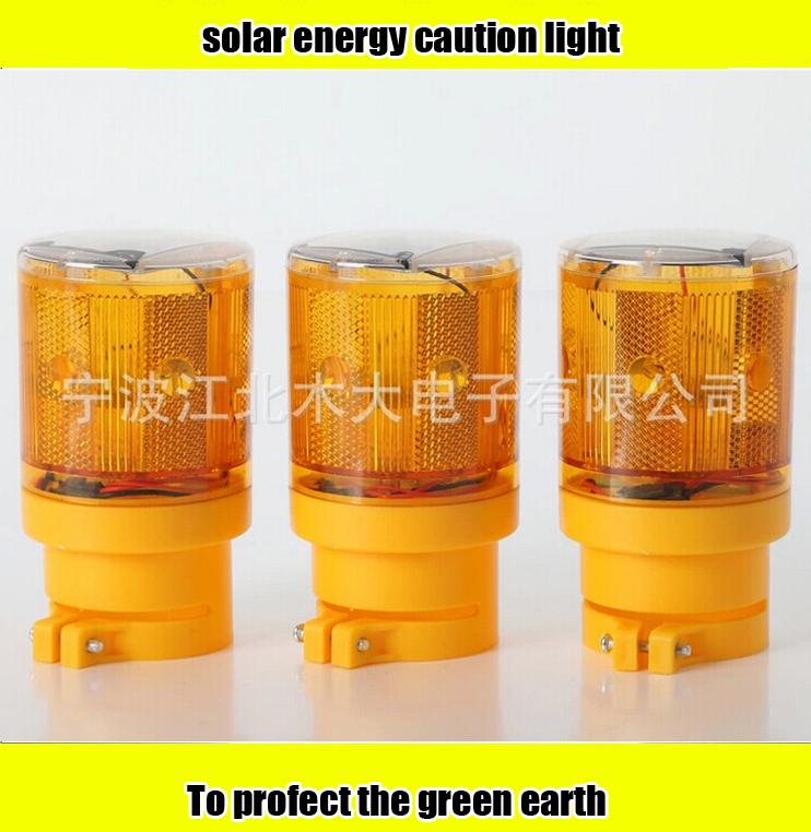 Solar warning light barrier construction tower crane bridge road warning light led construction air defense warning yellow light(China (Mainland))