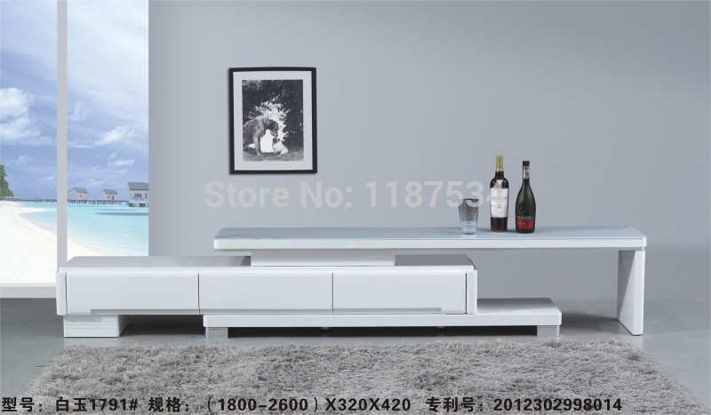 Modern living room furniture white wood glass king size extra large