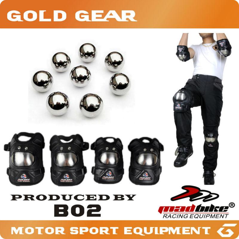 Protective Gear Madbike B02 Motorcycle kneepad stainless steel MX rodilleras joelheira motocross equipment moto protector racing(China (Mainland))