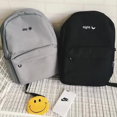 2015 Korean simple solid color canvas shoulder bag men and women shoulder bag lovers backpack Harajuku(China (Mainland))